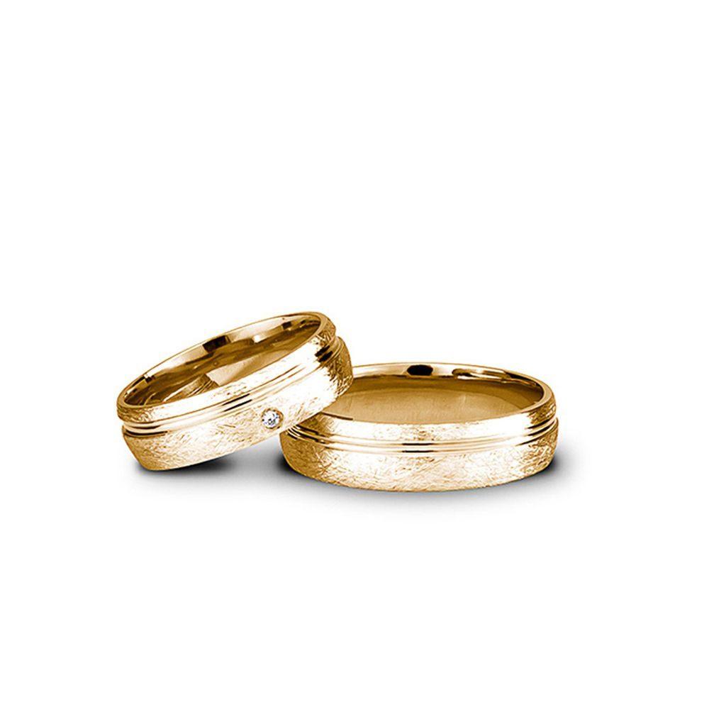 Verighete Aur Galben Cu Piatră V83 Bijuterii Din Aur Elegance