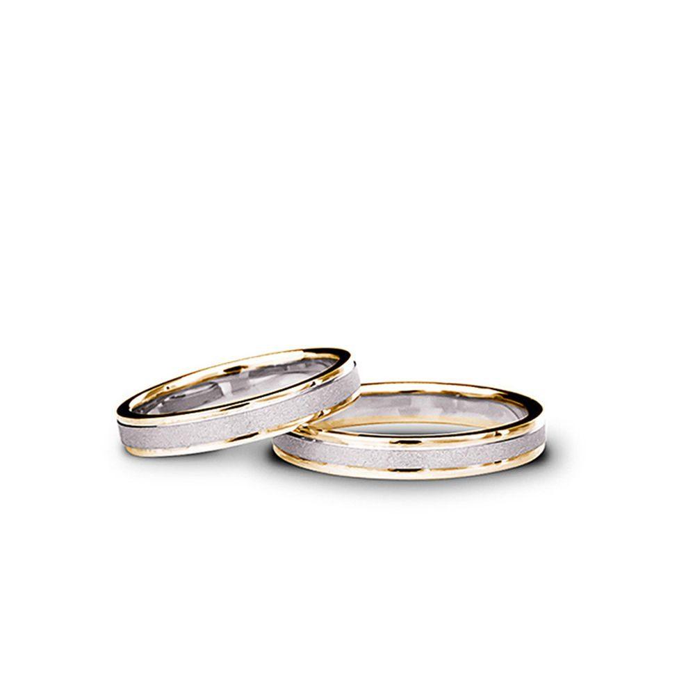 Verighete Aur Alb și Rodiu Negru Cu Pietre V46 Bijuterii Din Aur